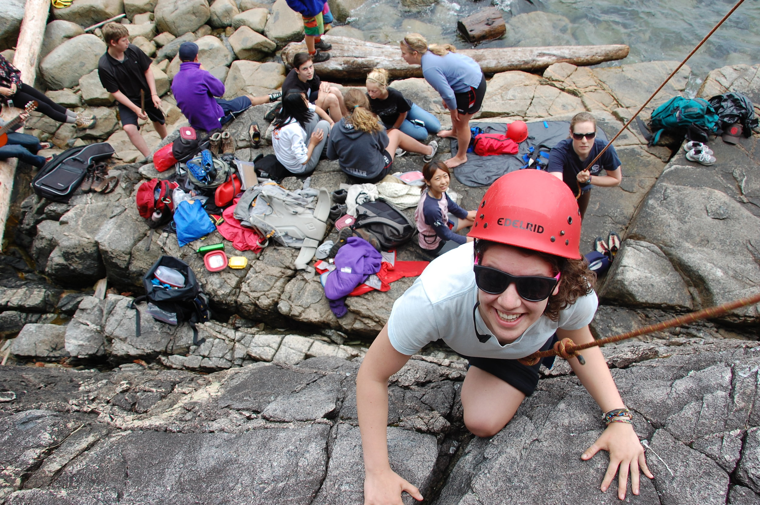 LEAP students climbing at Stillwater Bluffs