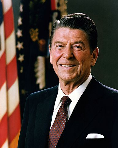 """President Ronald Reagan (above) vetoed the Comprehensive Anti-Apartheid Act, arguing the measure """"would seriously impede the prospects for a peaceful end to apartheid and the establishment of a free and open society for all in South Africa."""""""