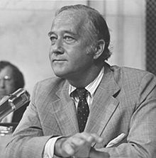 """Senator Charles Mathias (R-MD) (above) informed Majority Leader Bob Dole (R-KS) he would filibuster the bill with a death penalty provision in it and he was """"prepared to spend Christmas [in the Senate]"""" to do so."""