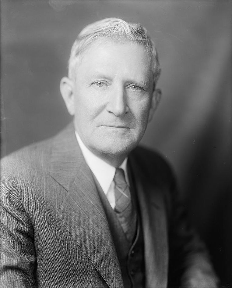 "Above:  Senator Morris Sheppard (D-TX), the ""Father of Prohibition,"" gave an eight and a half hour speech in an attempt to filibuster SJR 211."