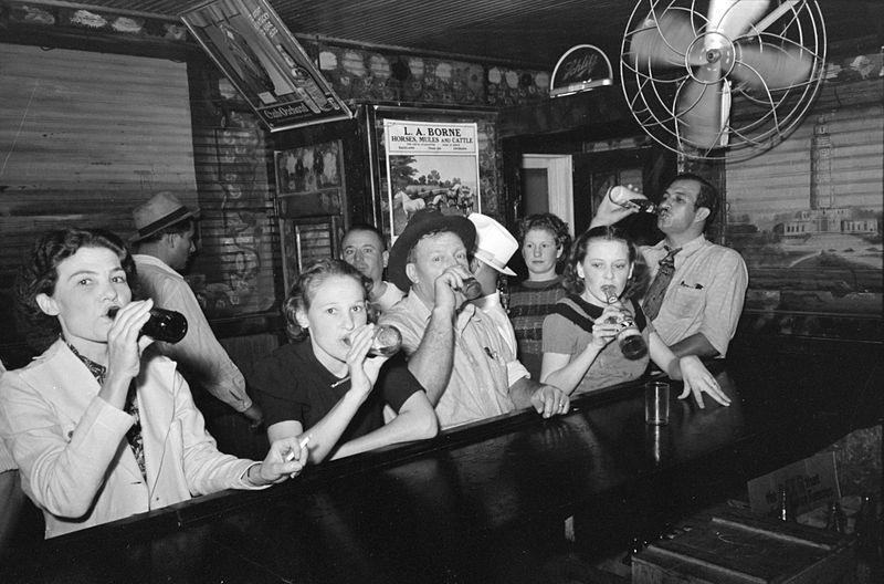 Above:  Patrons celebrate the passage of the Twenty-First Amendment, ending prohibition.