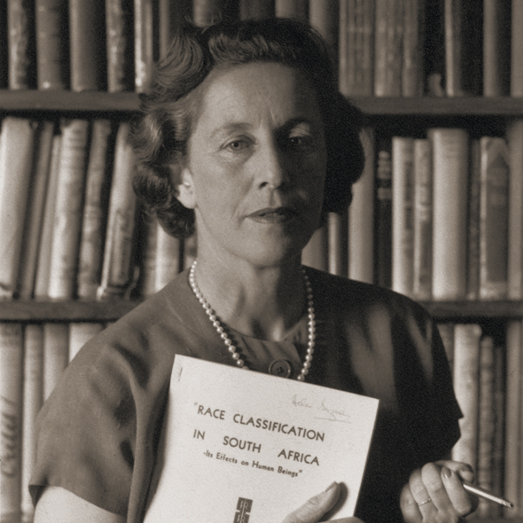 Above:  Helen Suzman was a long-time member of the South African whites-only parliament, and, at times, the only MP opposed to apartheid. Her constant arguments against apartheid meant she received a good deal of criticism, and she was harassed and spied on by security services.