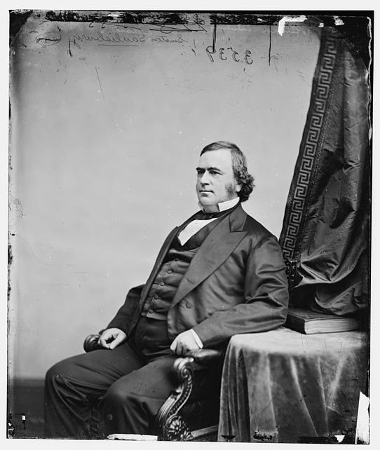 """I never did see or converse with so weak and imbecile a man as Abraham Lincoln, President of the United States."" - Senator Willard Saulsbury (D-DE) (above), 1863. Shortly afterwards, an intoxicated Saulsbury would pull a pistol on the Senate sergeant-at-arms after being called to order."