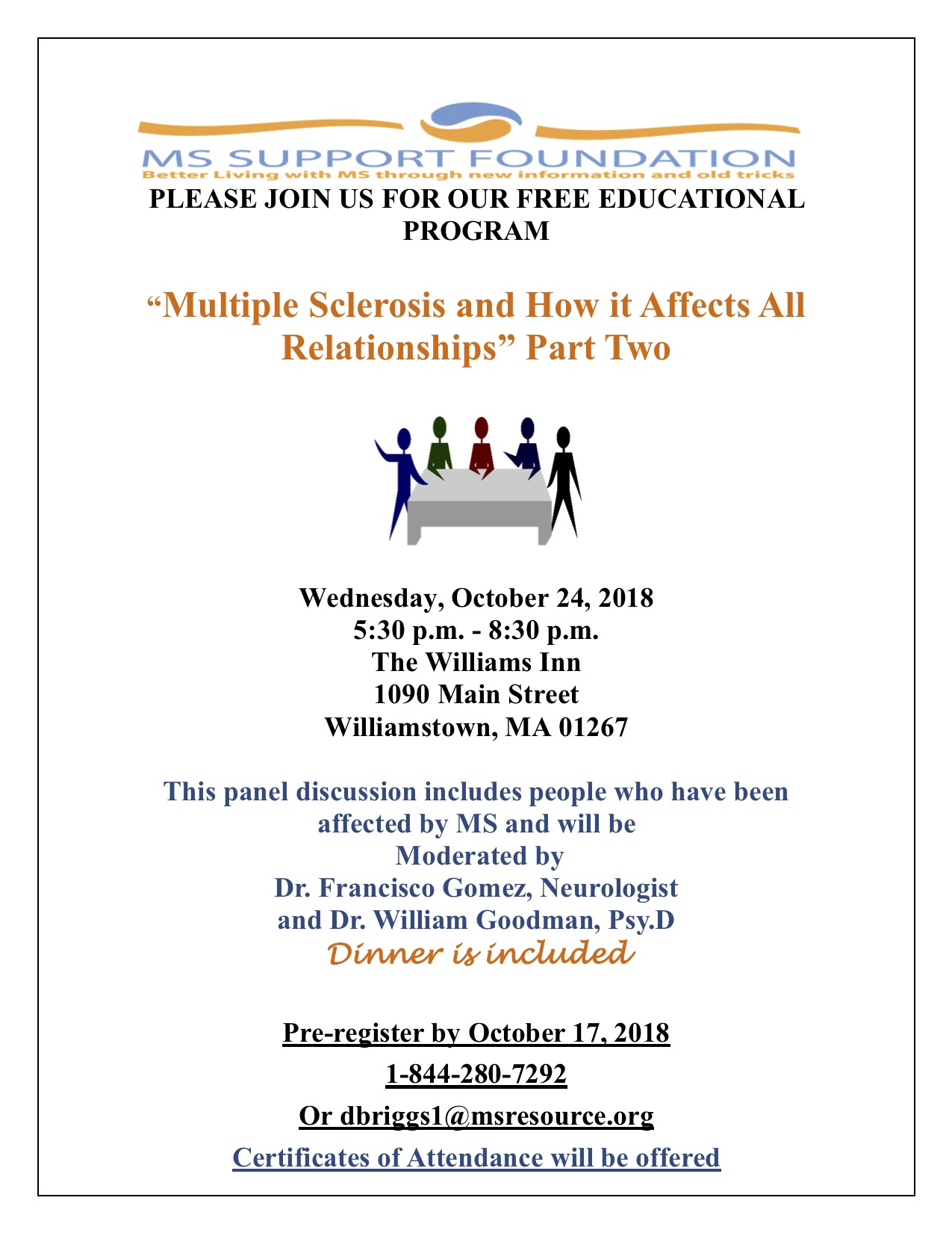 Flyer for October 24 2018- Part Two on MS and Relationships.jpg