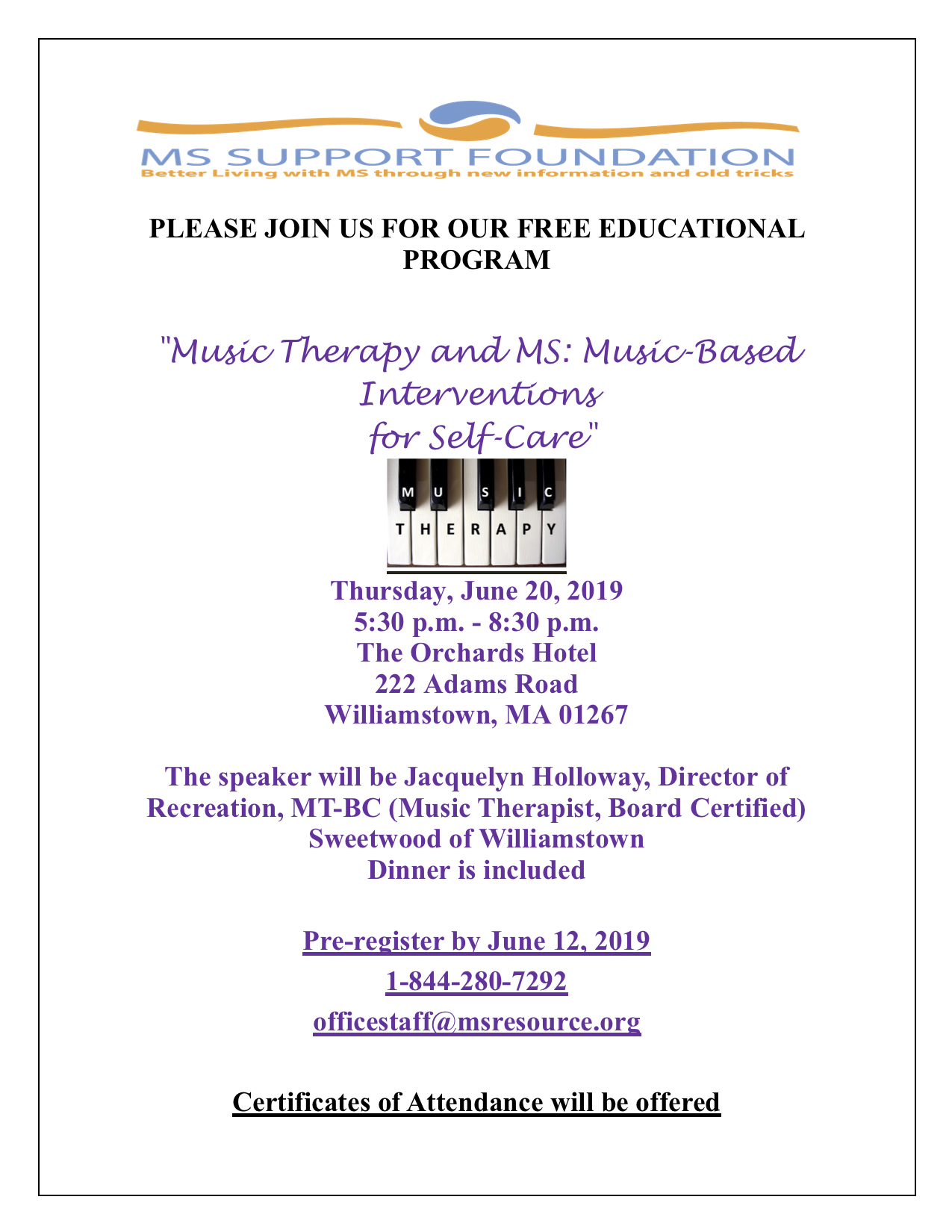 Flyer Music Therapy and MS Music- Based Intervention of Self Care June 20 2019.jpg