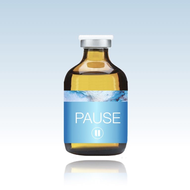 pause - $40 | Is your mind on overdrive? This shot merges the ultra relaxing combination of GABA and Theanine with the calming power of Magnesium and the brain protecting effects of Taurine. Take a pause, calm your mind.