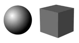 Matter fluxes between a cube and a sphere