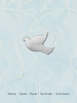 The dove represents the descent of Grace, a possible outcome when in a state of surrender