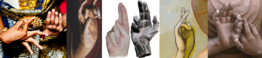 Mudras are used in ritual, in martial arts, dance, and as part of sacred liturgy
