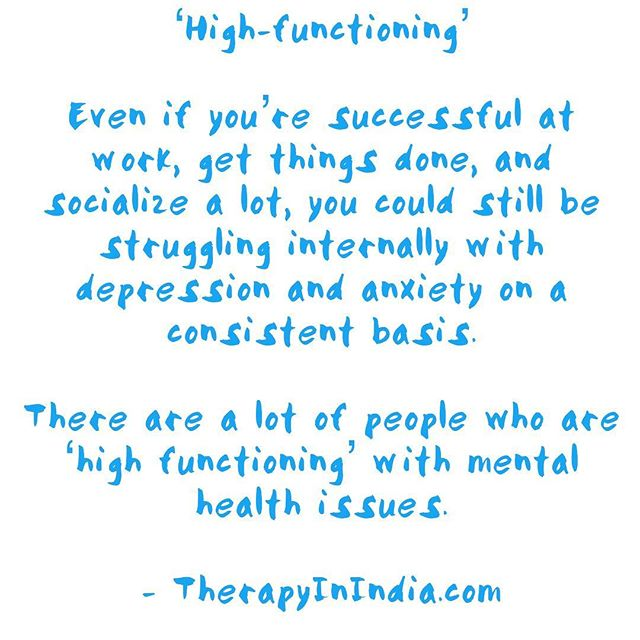 Maybe you have learnt to push yourself to be 'ON' or use activities as distractions. When you have time to yourself, does your mood change back to a low?  Check out the TherapyinIndia website (link in bio) for easy to read information on mental health and therapy.  #therapyinindia #depression #anxiety #mentalhealth #mentalhealthindia #itsokaytonotbeokay