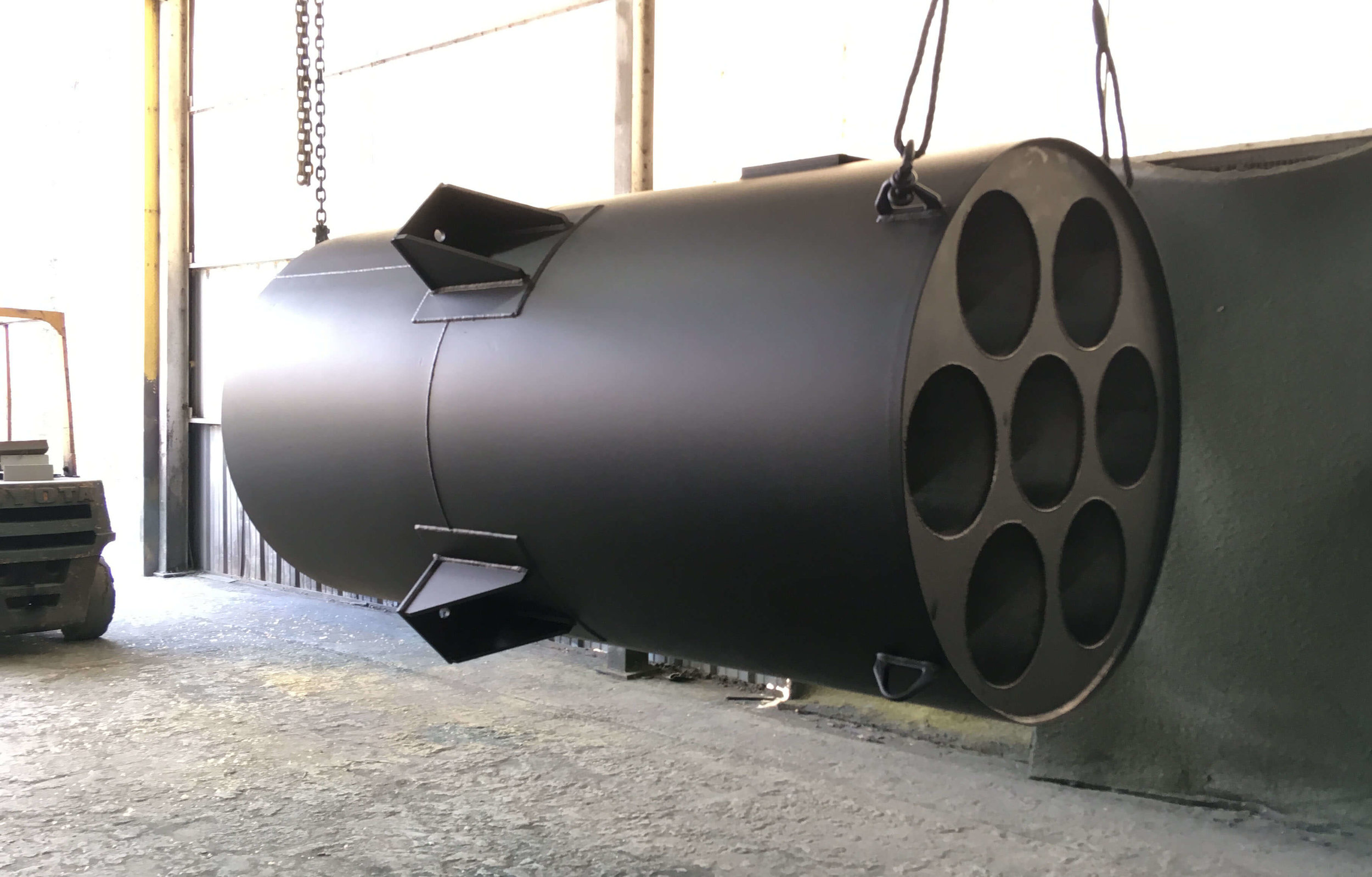 Steel Fabricated Industrial Silencer - Side