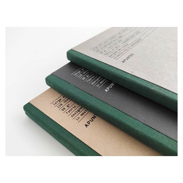 Basic Collection. Green on spine. Cooming soon. . . . . . . . . . . . . . #takeamomenttowrite #theluxuryofwriting #apuntesmx #stationery #madeinmexico #onlypaper #papergoods #writingthemoment #themexicoweare #themexicowesee #depapel #paperlover #thisismexico # #anteseradf #notebooks #journals #notepads