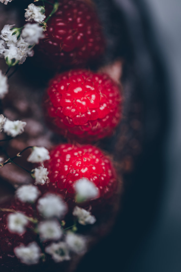 Raspberry macro photography