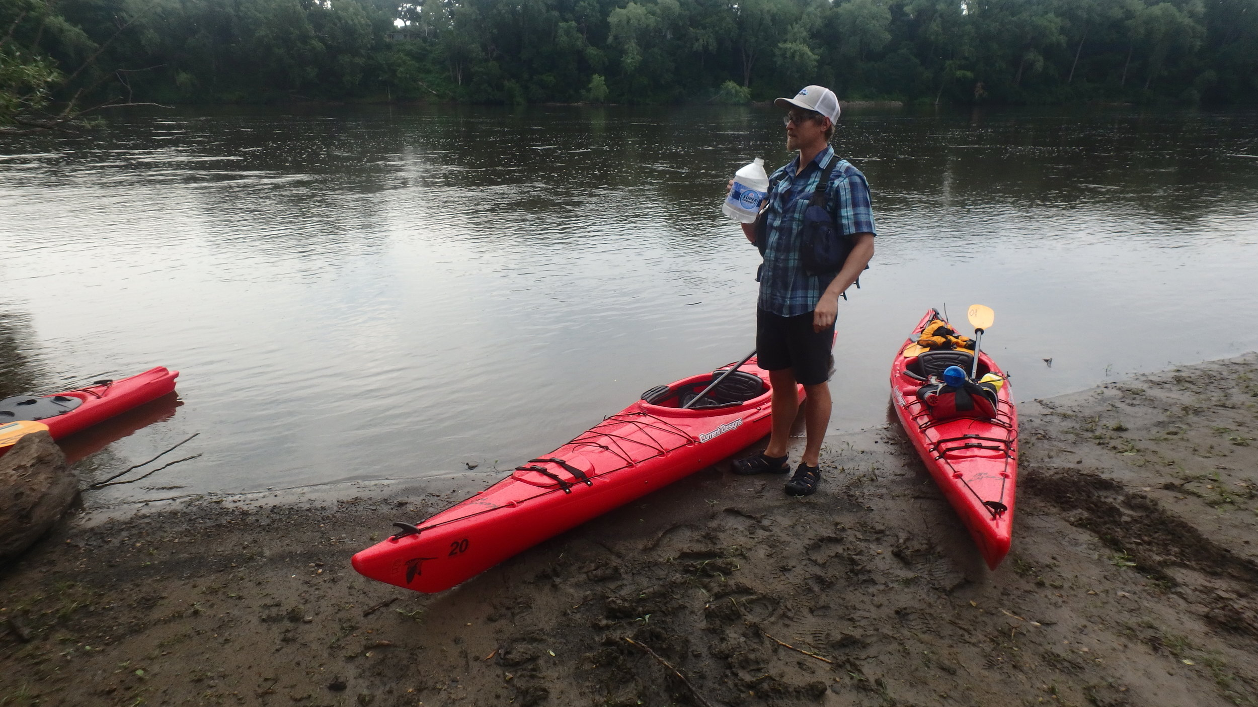 Paddle Bridge Owner, Theo, taking advantage of a hydration opportunity