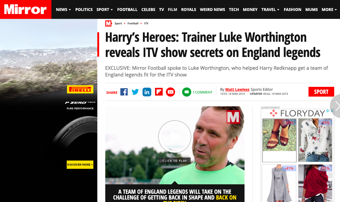 Daily Mirror - Harry's Heroes