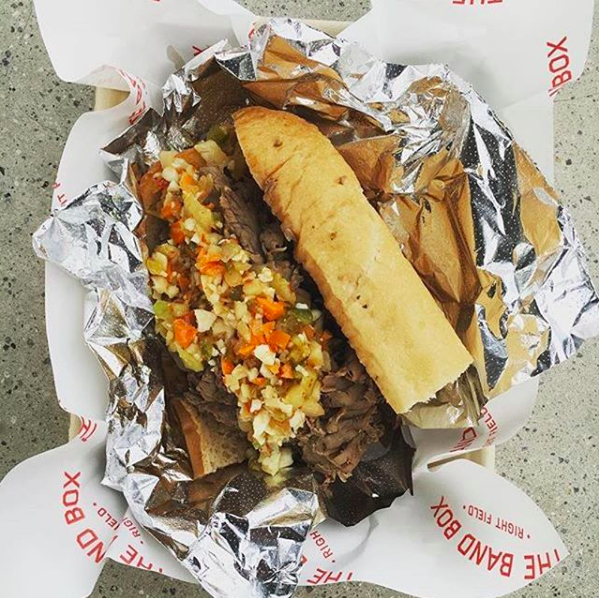 Italian Beef created by Anthony Galzin of Nicky's Coal Fired
