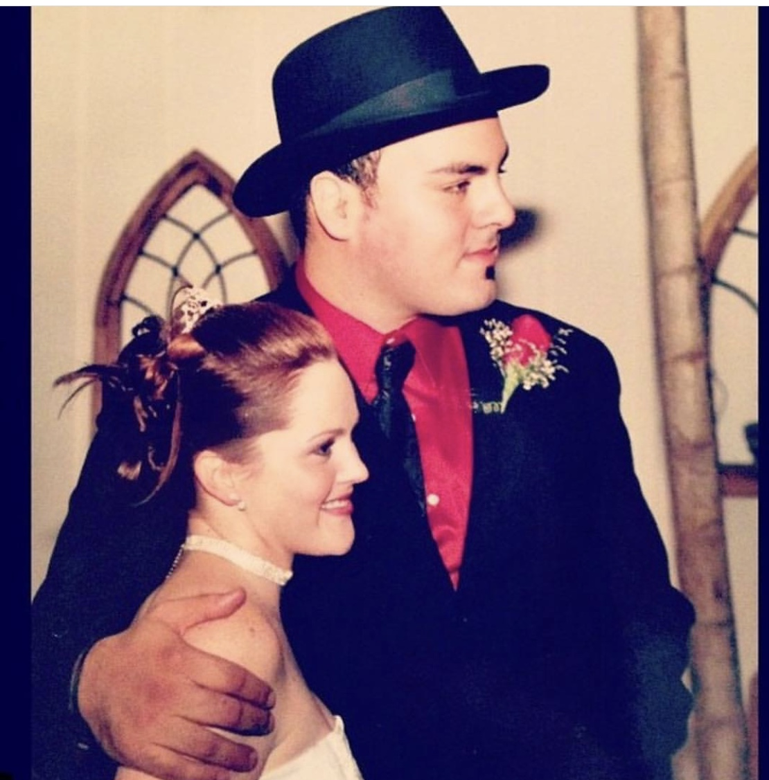 Kim and Levon got married in 2003 at 23 years old. Even then,Levon was killin' the hat game.