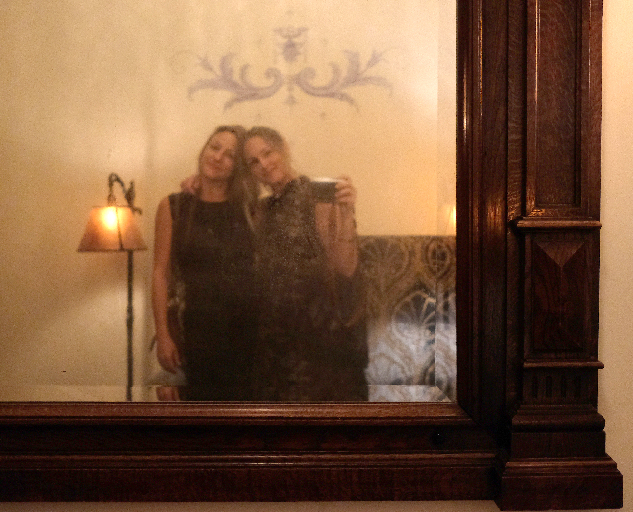 Becca and me in the Chateau Marmont lobby