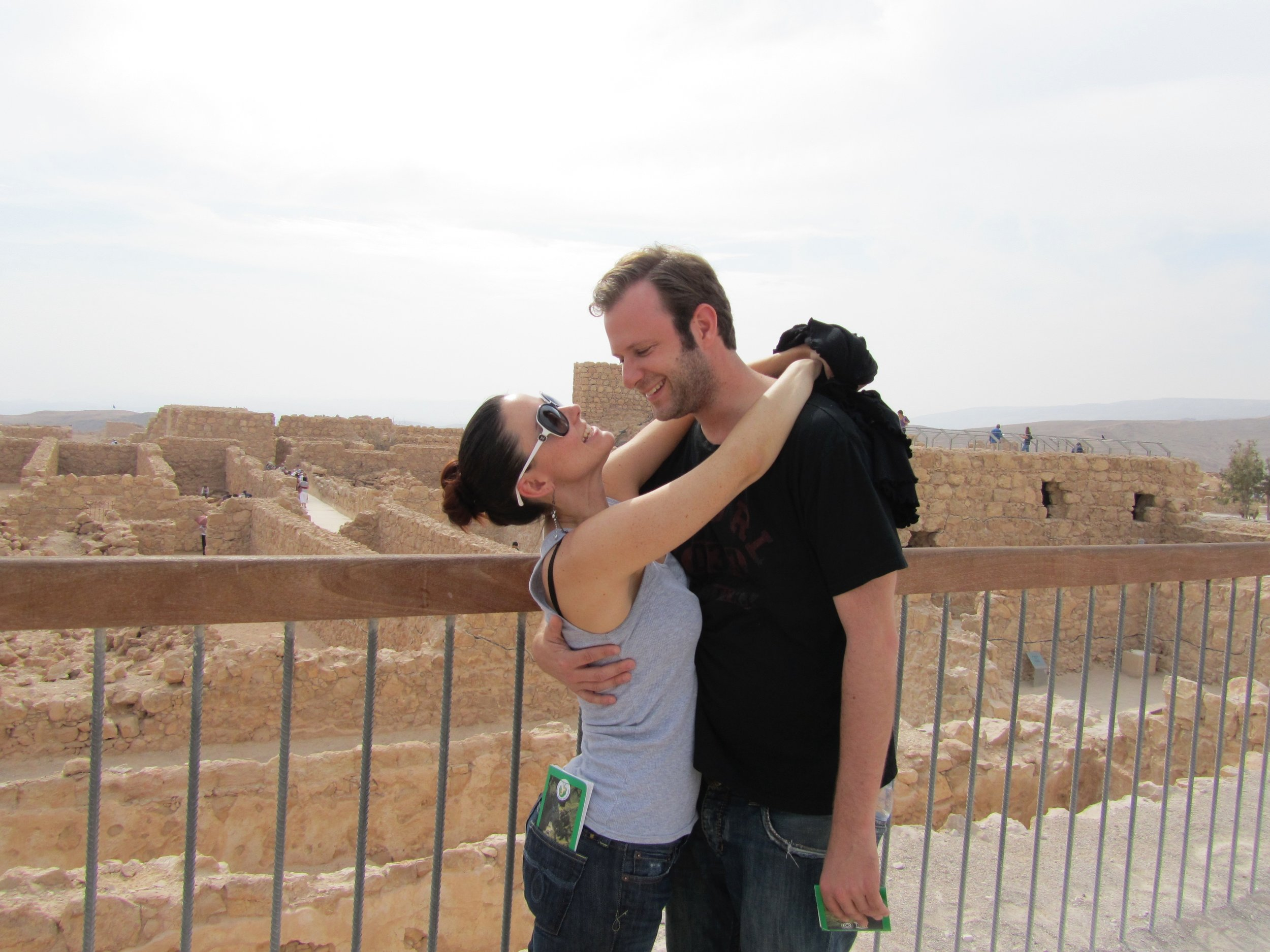Here we are in Israel. I forget what year it was but we were skinny and well-rested so it was definitely before 2014!