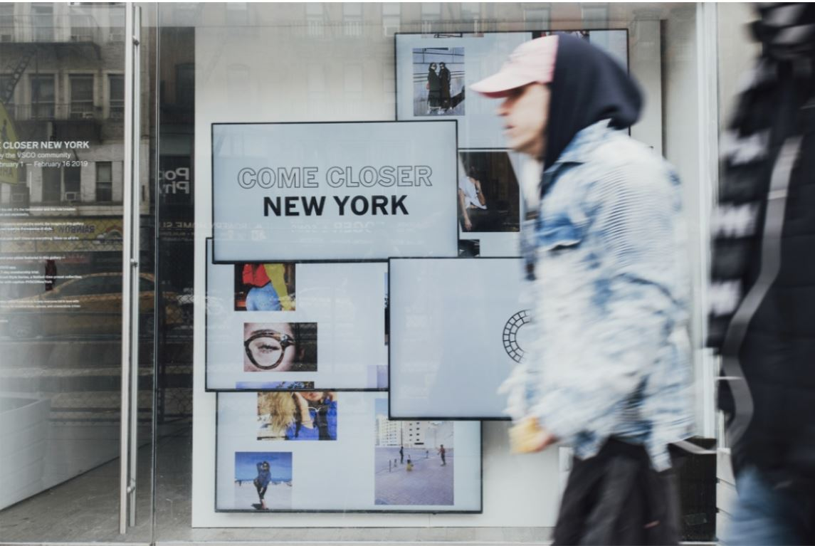 VSCO Continues it's Pop-up Gallery Activations in New York and London to Celebrate Style in the Global Creative Community   February 1, 2019 - To celebrate diverse and honest expressions of style seen around the world, VSCO is bringing two pop-up galleries to New York and London, on display from February 1st - February 6th, 2019.