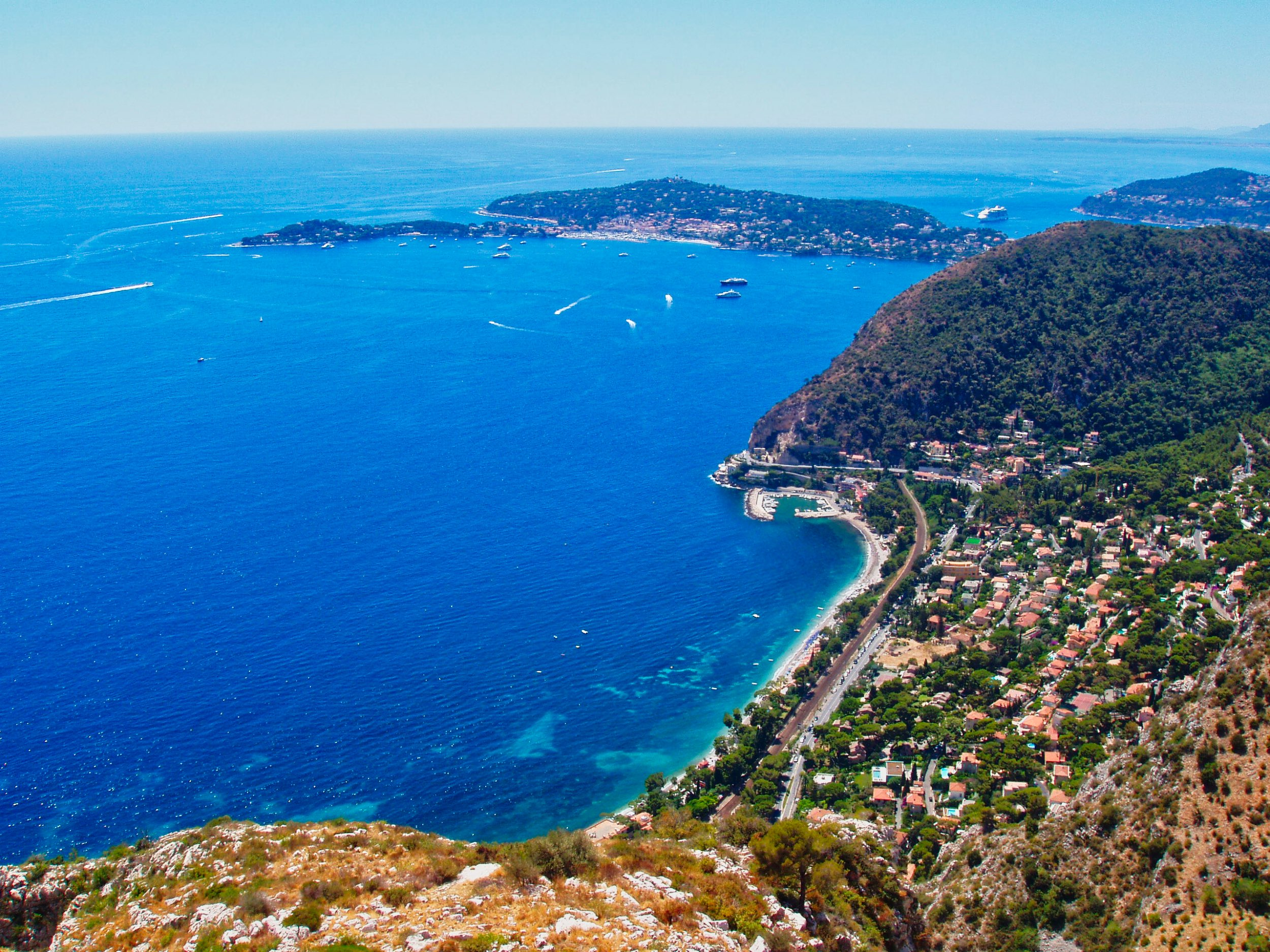Saint-Jeanne-Cap-Ferrat viewed from The Route 'Moyenne Corniche'.