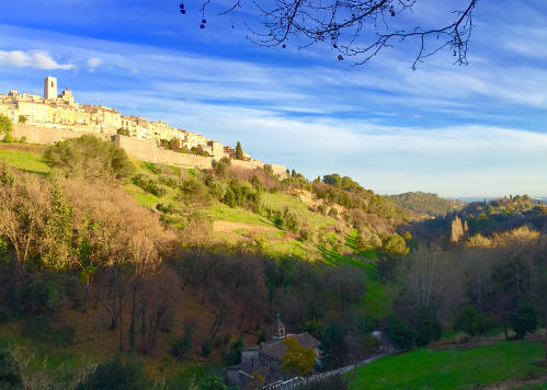 The walled medieval village of Saint Paul de Vence