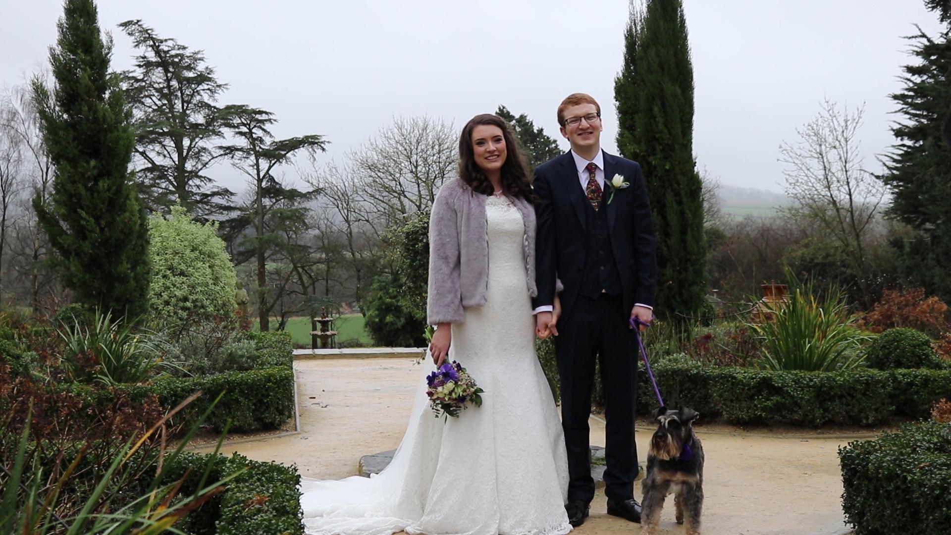 Devon winter wedding