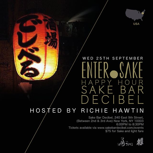 "Sake Bar Decibel x @entersake ""ENTER.Sake with Richie Hawtin"" @richiehawtin⁣⁣ ⁣⁣🏮On Wed, 9/25🏮6pm - 8:30pm🏮LIMITED SEATING🏮⁣⁣ ⁣⁣⁣⁣ ⁣⁣ENTER.Sake event at Decibel, hosted by ENTER.Sake founder and Sake Sommelier🍶Don't miss it!⁣⁣ ⁣⁣⁣⁣ ⁣⁣🏮3 kinds of sake⁣⁣ ⁣⁣Black, Silver, Gold⁣⁣ ⁣⁣*Unlimited drinking⁣⁣ ⁣⁣⁣⁣ ⁣⁣🏮Finger Foods⁣⁣ ⁣⁣3 kinds of sashimi plate⁣⁣ ⁣⁣Tsukemono, Japanese pickles: Cucumber with Moromi Miso Edamame⁣⁣ ⁣⁣⁣⁣ ⁣⁣For more details and reservation: www.sakebardecibel.com/events ⁣ ⁣・⁣⁣ ⁣⁣・⁣⁣ ⁣⁣・⁣⁣ ⁣⁣#🍶 #sakebardecibel #decibel #decibelnyc #decibelny #nycbars #undergroundbars #hiddenbarsnyc #sakebar #instadrinks #sakeheaven #izakaya #izakayanyc #nyceats #nycfoodies #nycfood #japanesefood #innovativefoods #nyc #eastvillage #instafood #foodporn #nomnom #comfortfood #foodie #littletokyonyc #sake #sakepouring #cheers #japanesesake"