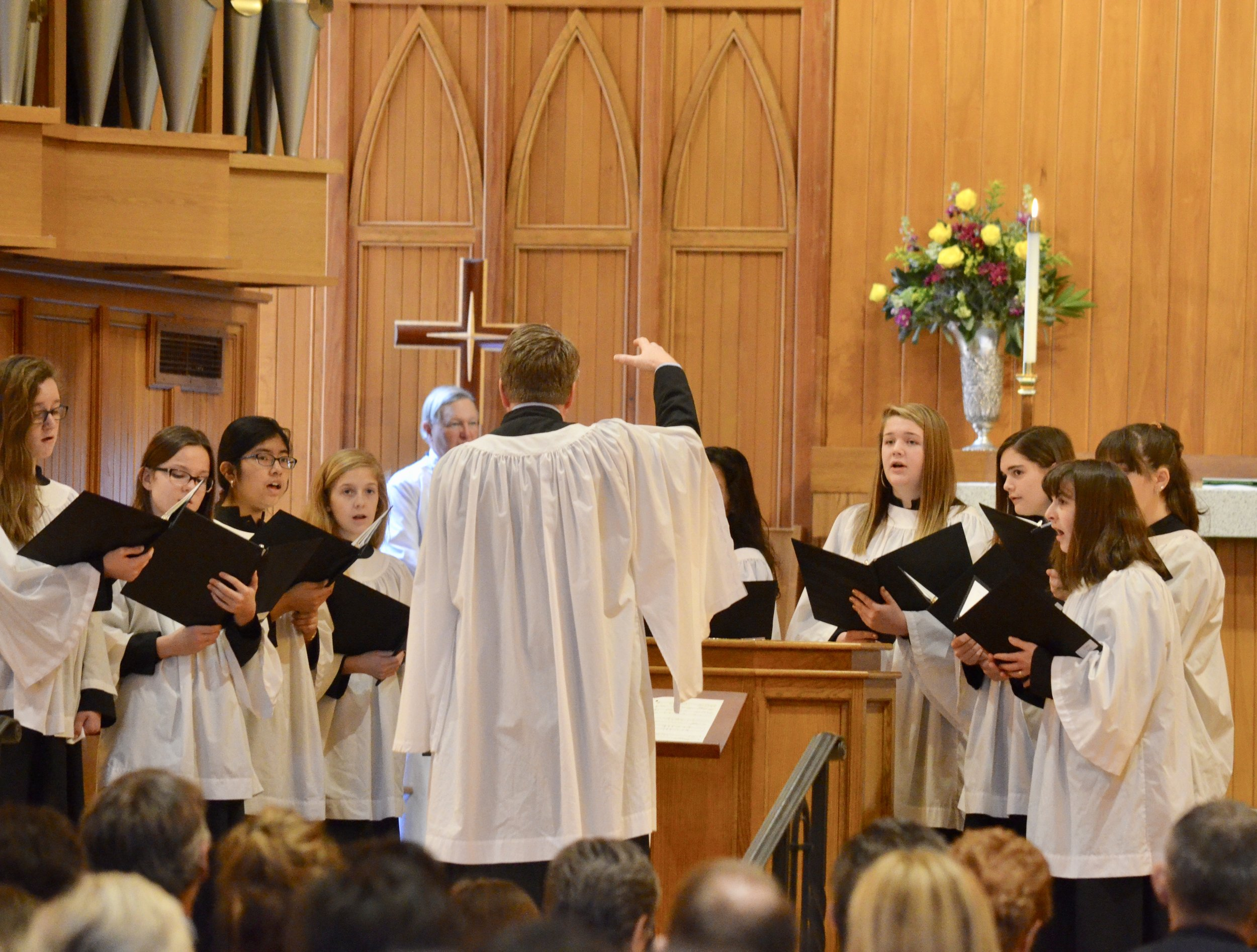 The St. Cecilia Girls Choir at St. Michael's Episcopal Church, Raleigh