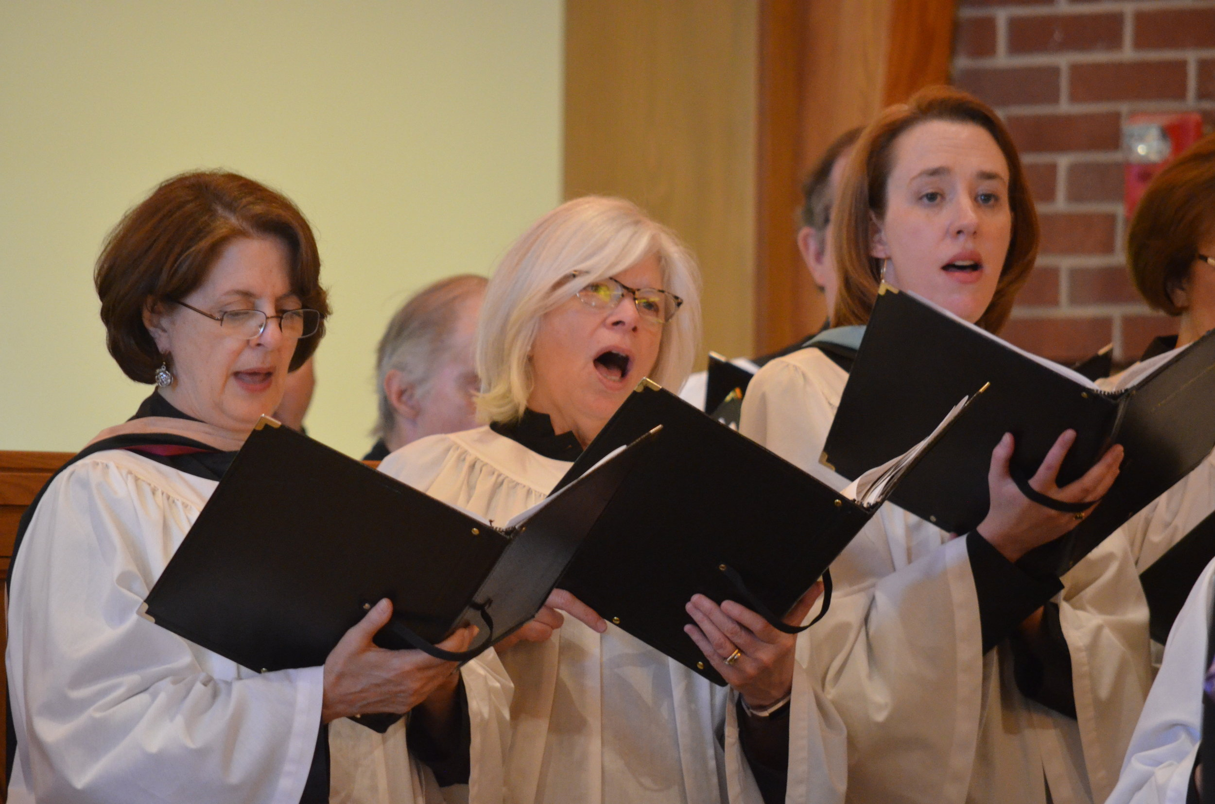 Adult Choir singers at St. Michael's Episcopal Church, Raleigh