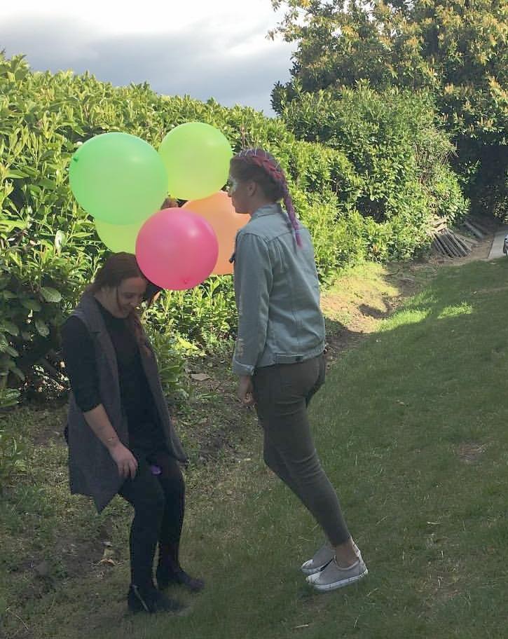 Beth having fun styling a festival shoot.