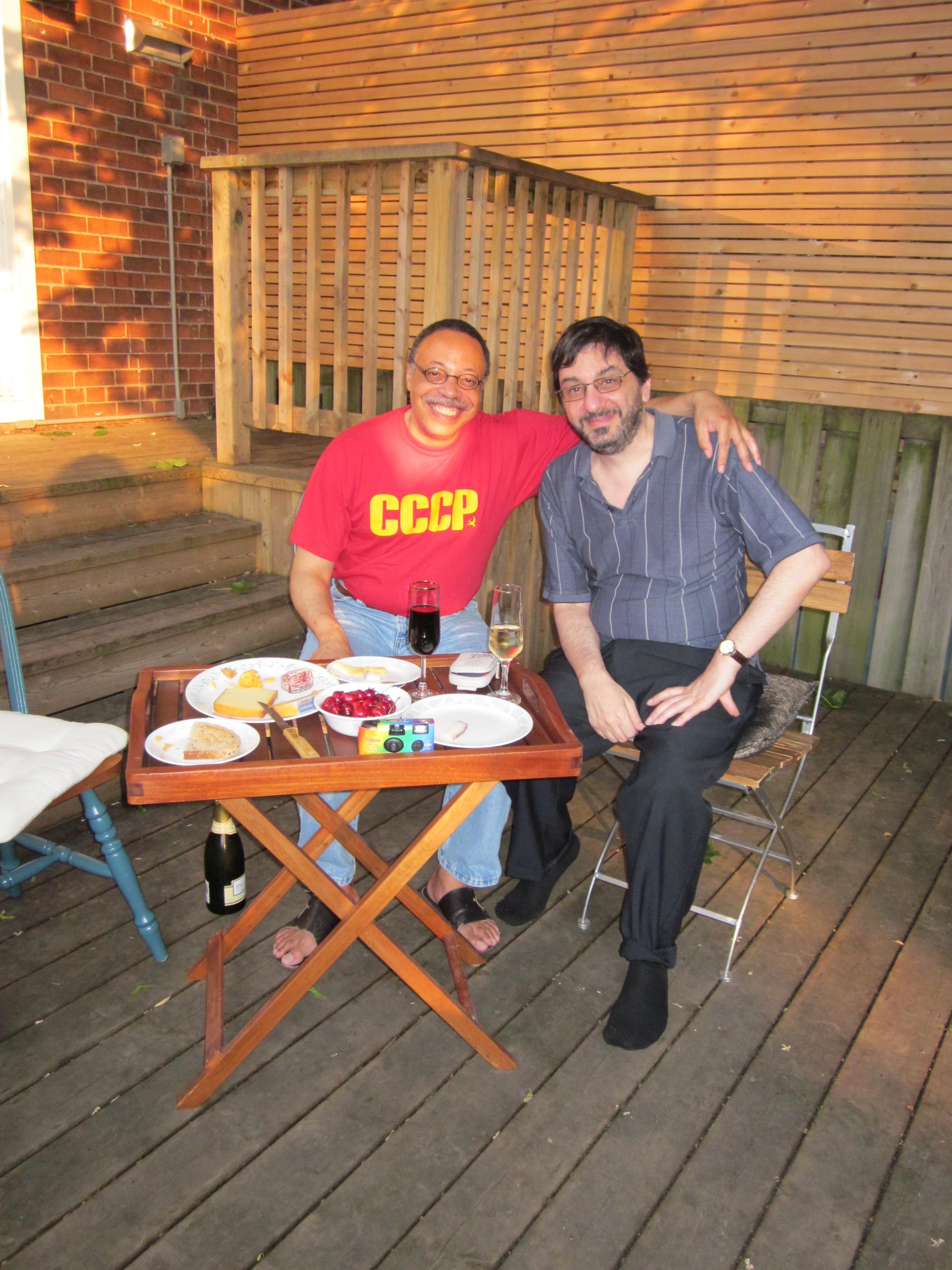 With poet Paul Zemokhol, Toronto (ON), June 2012