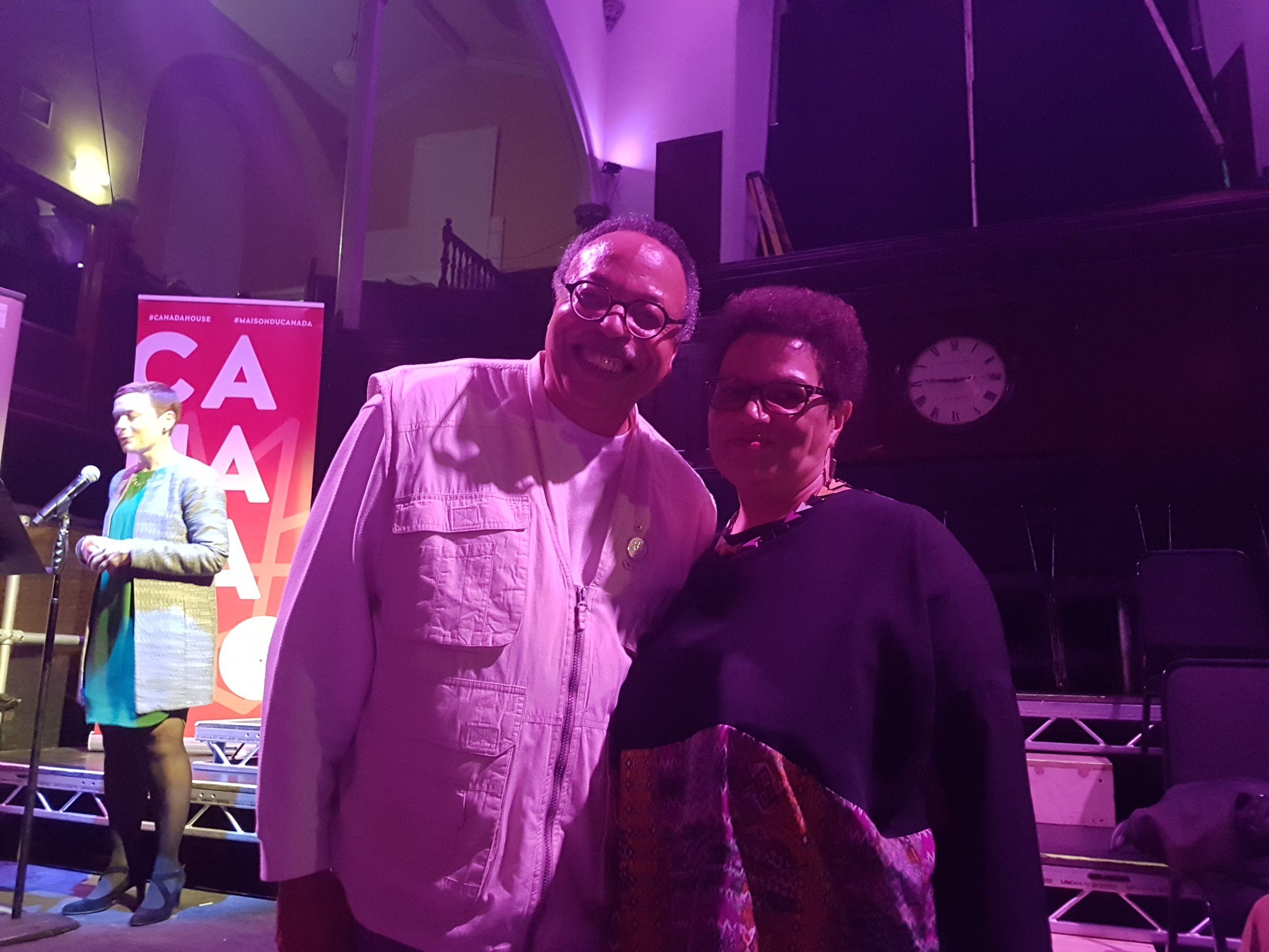 With Poet Laureate Jackie Kay at Edinburgh Fringe Festival, 2017.