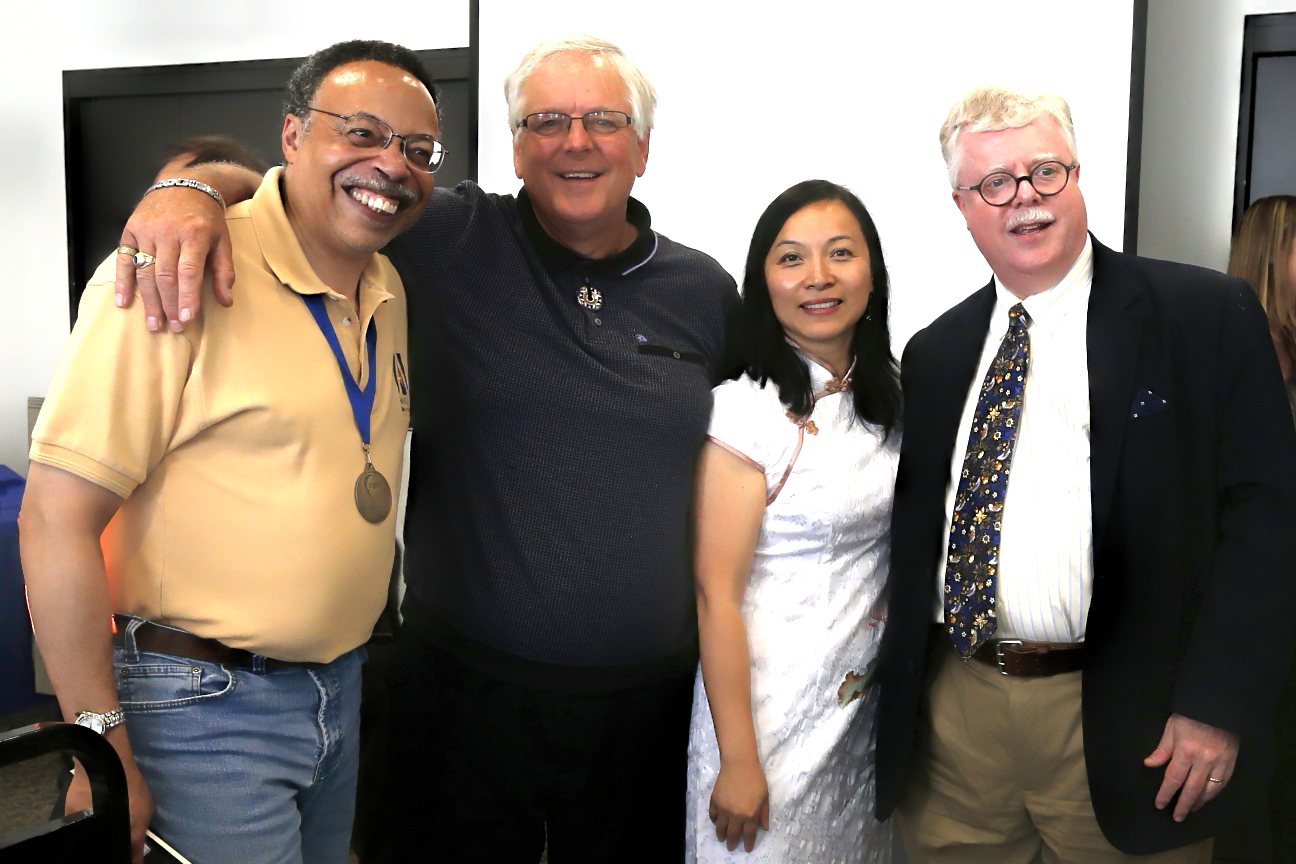 With Poets Laureate John B. Lee, Anna Yin, and Bruce Meyer, 2015.