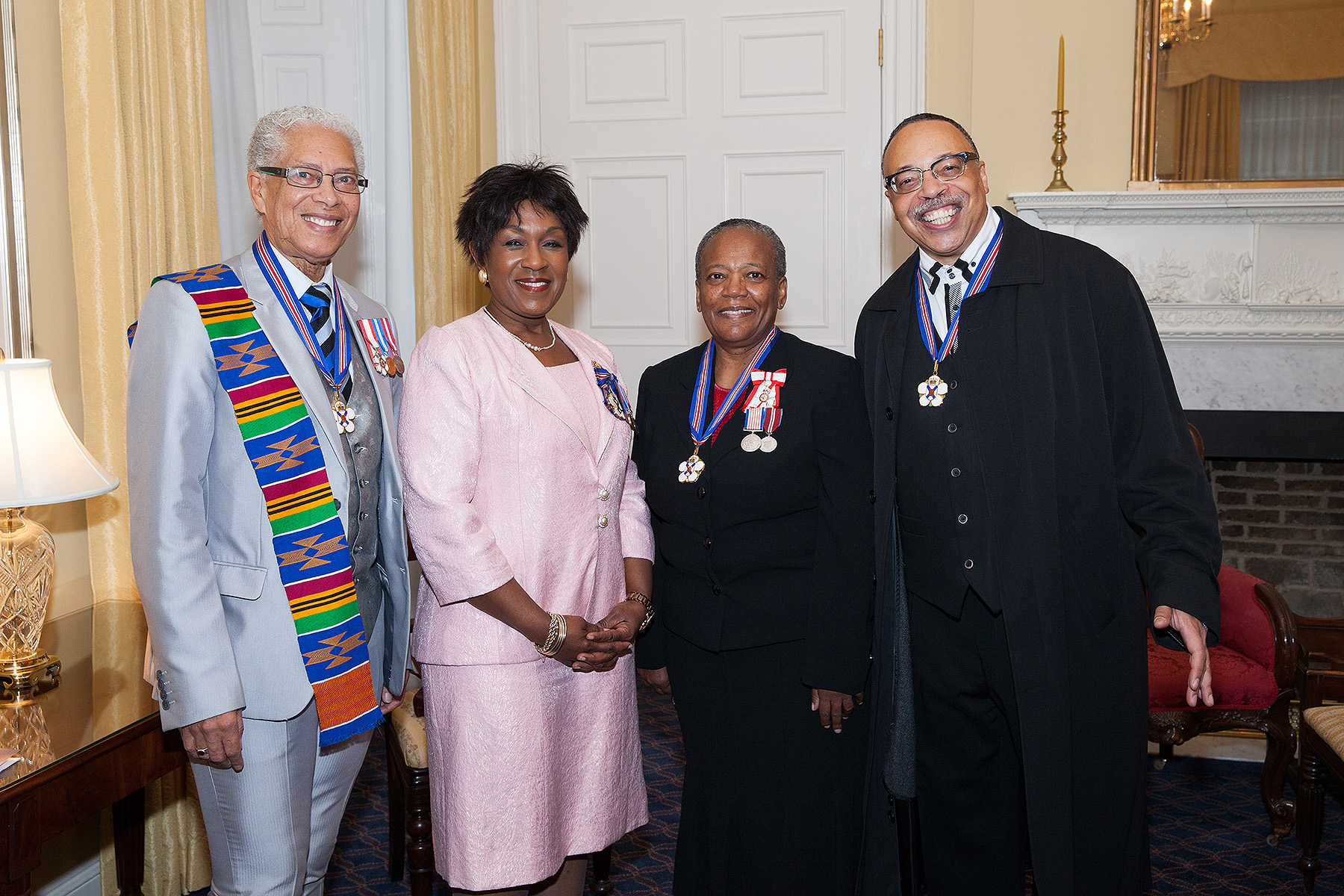 With poet Walter Borden, Hon, Mayann Francis (Lieutenant-Governor of Nova Scotia), and Dr. Wanda Thomas Bernard, at the Order of Nova Scotia ceremony, 2014.