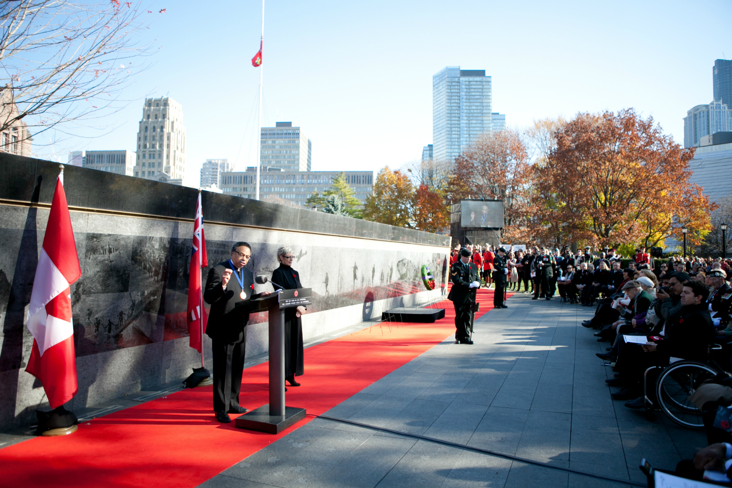 Remembrance Day ceremony, Queen's Park, Toronto, 2014.