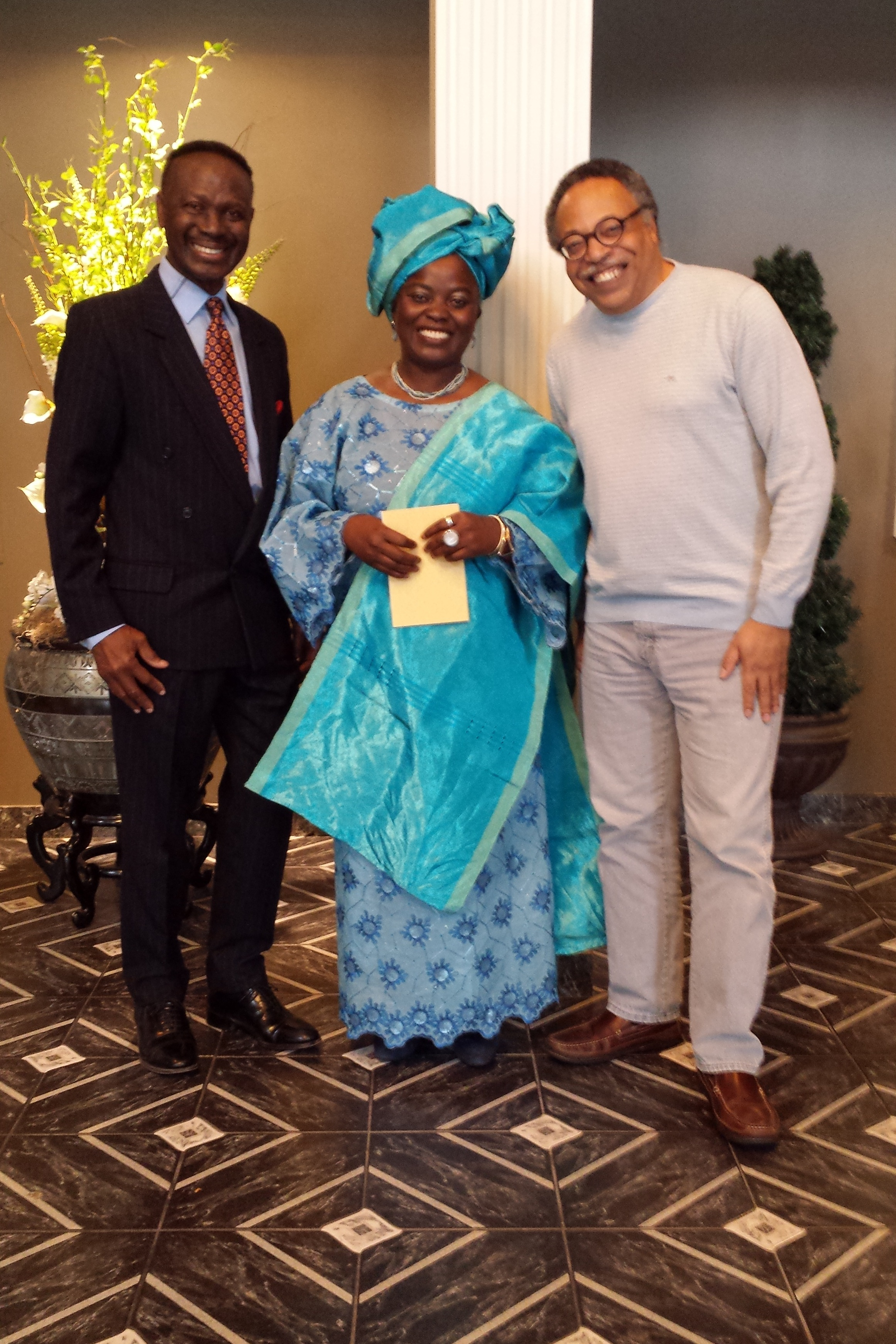 With Jose Aggrey and poet Lola Amope, Ottawa Antiquarian Book Festival, 2018.