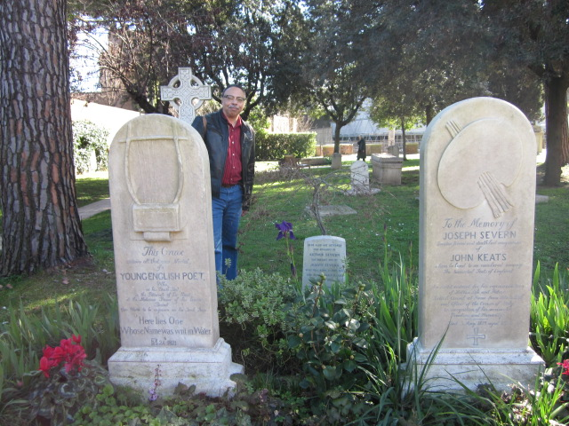At Keats' Tomb, in Rome, 2014.