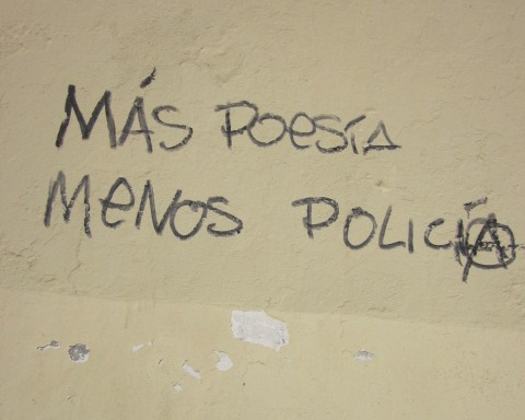 Words to live by. Graffiti in Cadiz, Spain, 2013.