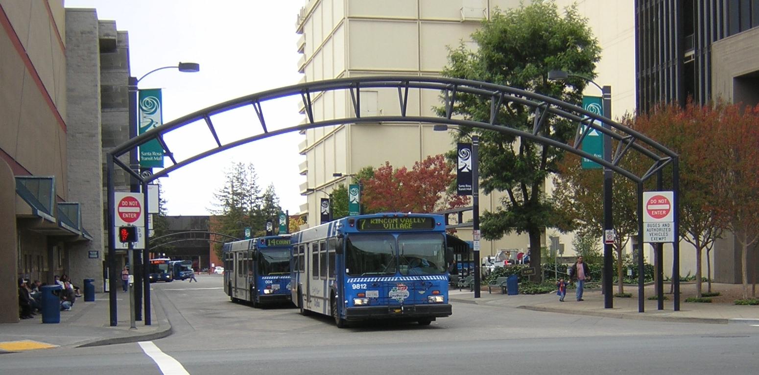Downtown Santa Rosa transit mall