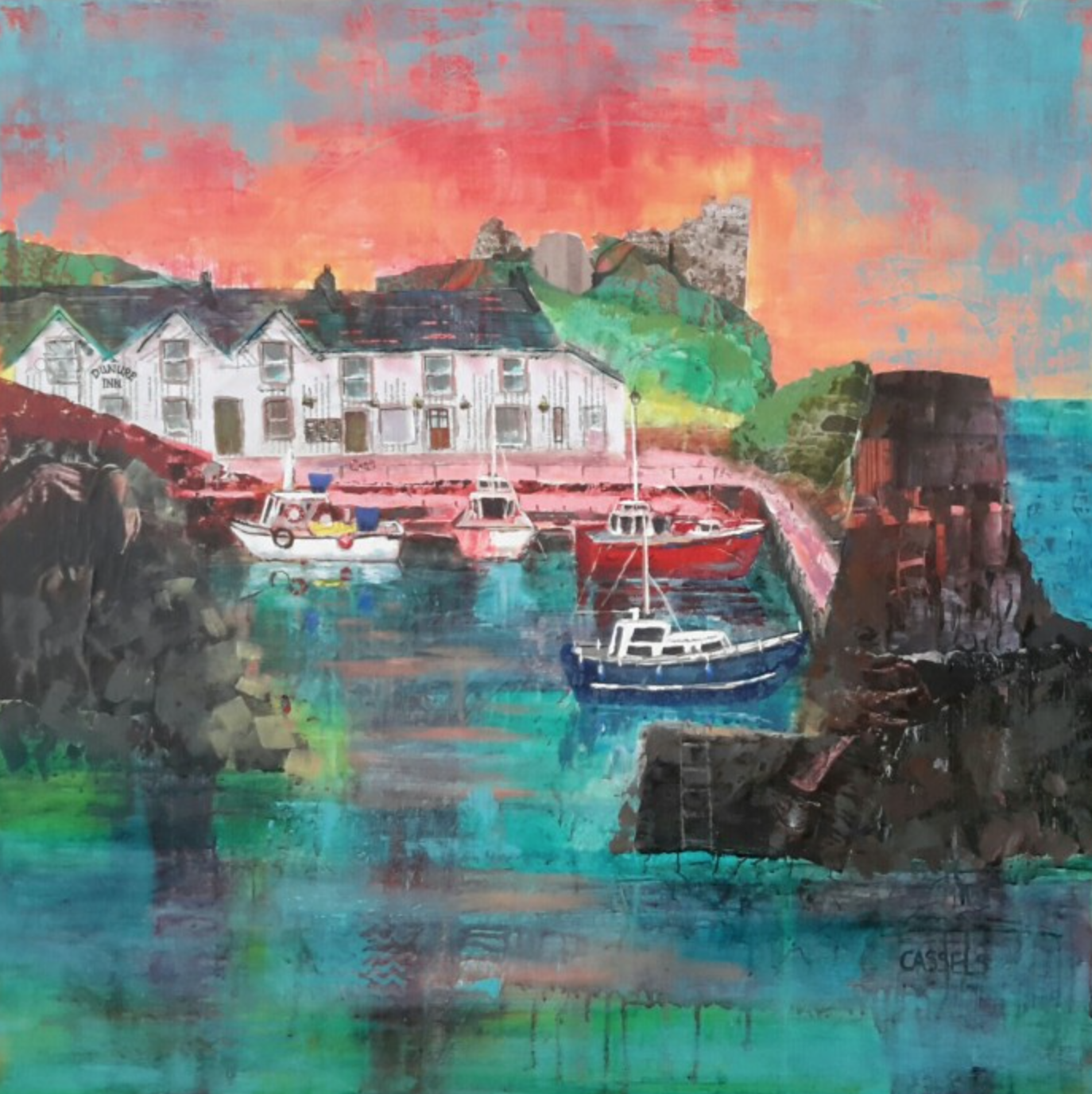 - Sunday 22nd October to Saturday 18th November 2017: The Maclaurin Art Gallery After many years of Millie, she is taking a back seat this year at the exhibition... but look out, she is there in miniature form!This year's competition is 'Ayrshire Image'.  I have entered a collage piece of Dunure Harbour which I loved creating. Lots of wee surprises in it. Pop in if you can, it's a great exhibition, for a great charity.