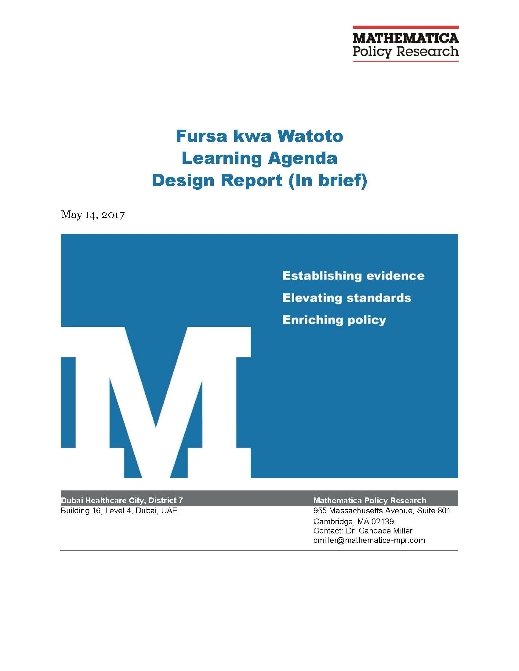 Learning Agenda Design in Brief