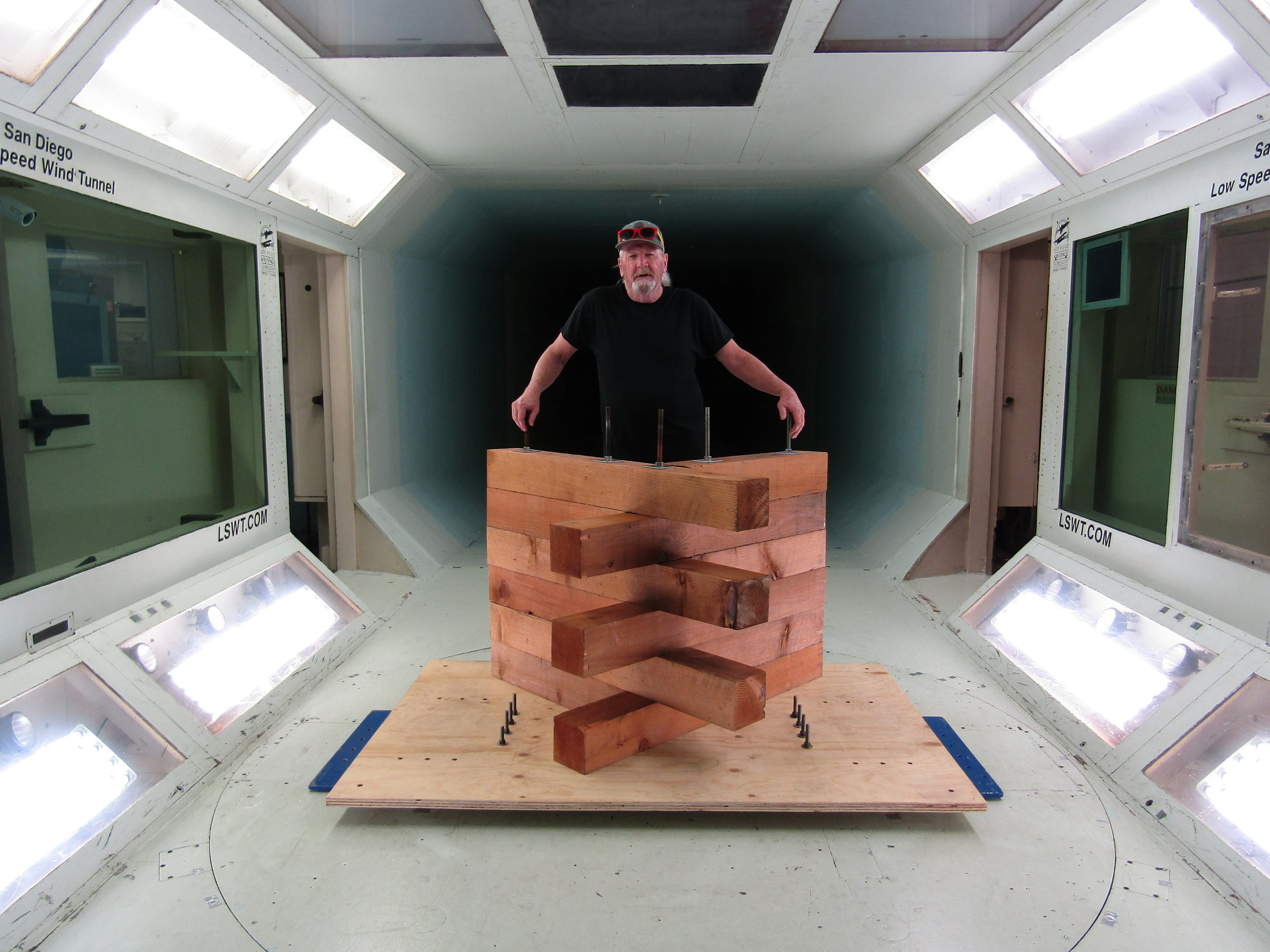 In the wind tunnel, our model survived 150mph winds without even moving.