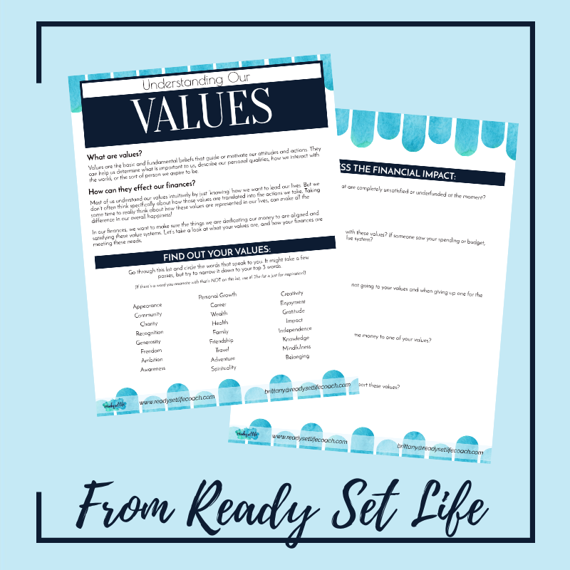 Make sure your values and budget are aligned!