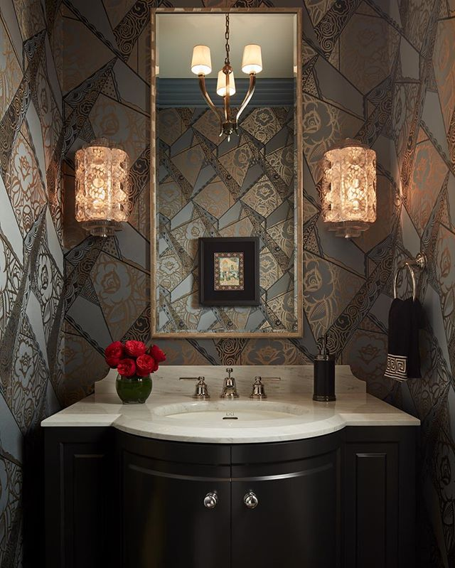 With a vision that blends classical architecture and modern conveniences, @vincereInteriors mastered this jewel box powder room. #JCclientlove [Photo: @nathankirkmanphoto]