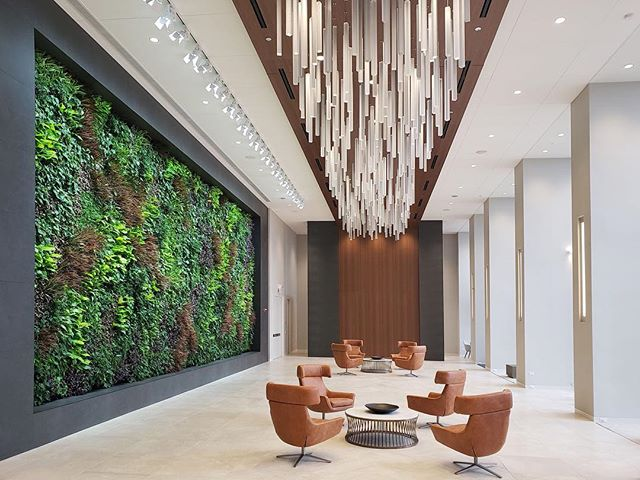 "@businessofhome is shedding a light on biophilic design and its ever-growing popularity - and importance - in today's world. ""What biologists describe as the 'built environment'—spaces we create to live, work and be in—goes beyond LEED or WELL standards; people increasingly want green, inspiring and aesthetically pleasing features across their offices, residential, retail and hospitality spaces."" Check out the article to see insights from @sagegreenlife with the link in our bio! #JCclientlove [Photo: @sagegreenlife]"