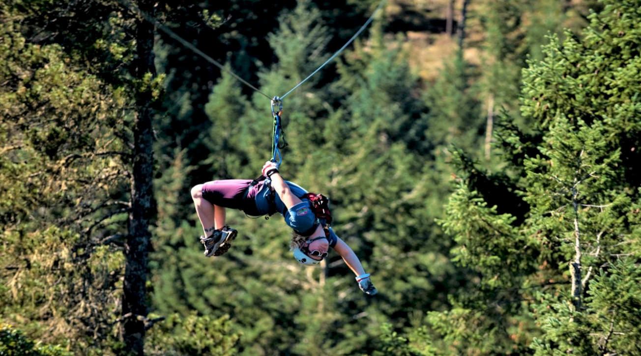 Ziplining at Adrenaline