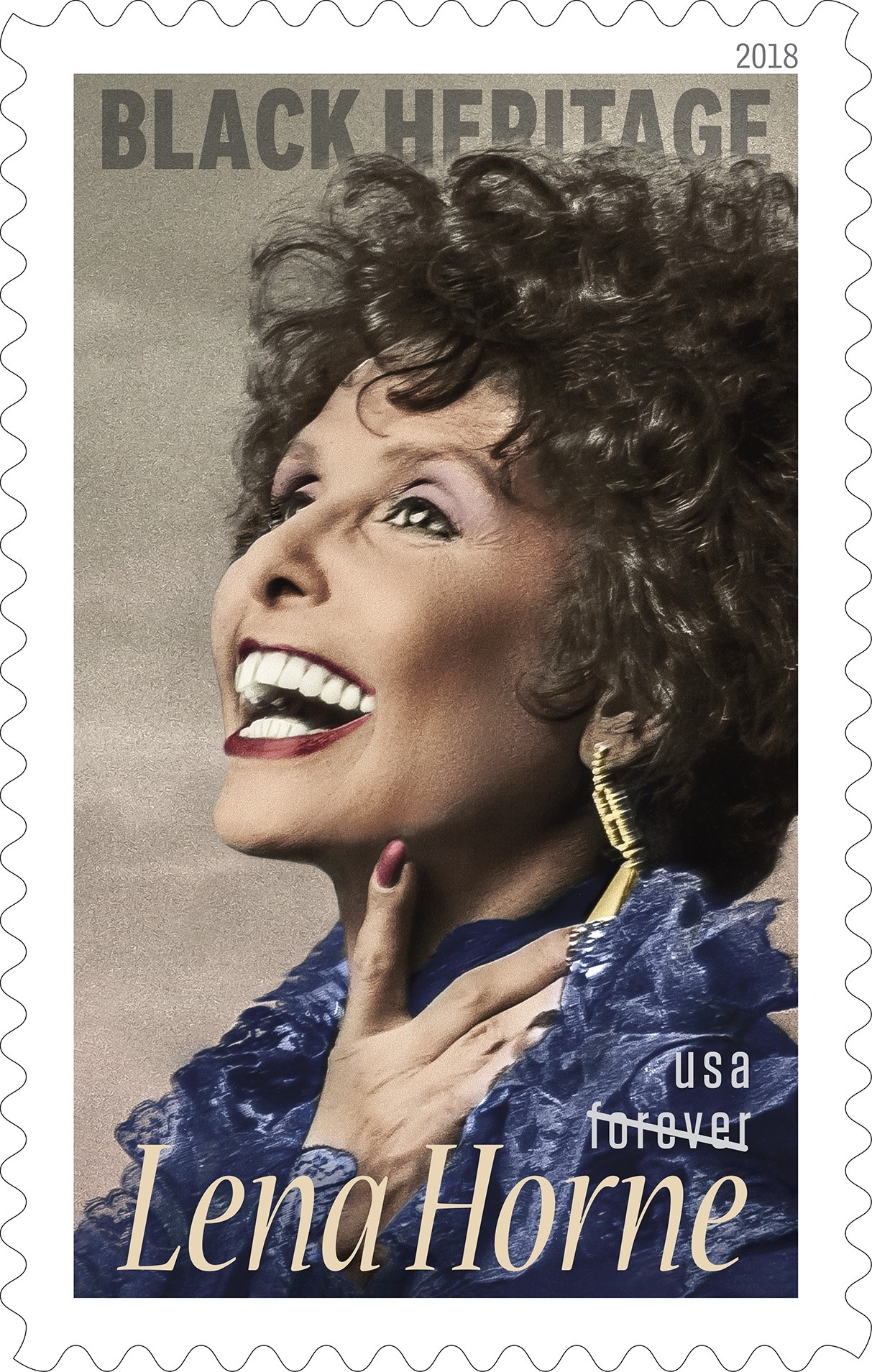 USPS' Lena Horne Black Heritage stamp features a 1980s photograph taken by Christian Steiner.