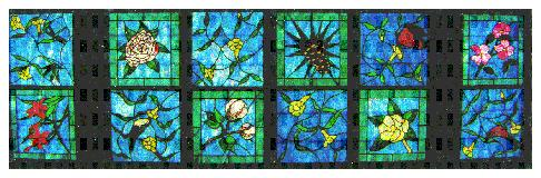 The museum's stained glass skylight.