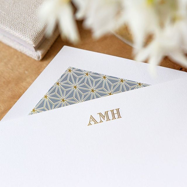 For every occasion - when you run out of time to find that elusive perfect birthday card, stock a set of stationery nearby to show appreciation for those closest to you in your own words. . . . . #charlestonstreet #paper #personalizedstationery #customstationery #bespokestationery #surreycenter #augusta